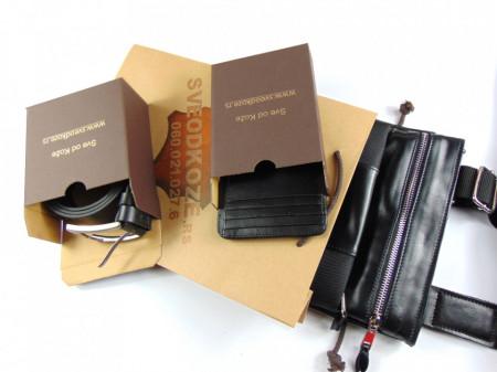 Sportska crna torbica kaiš i držač za kartice
