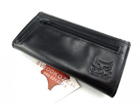 Ženski kožni novčanik 7 crni riba