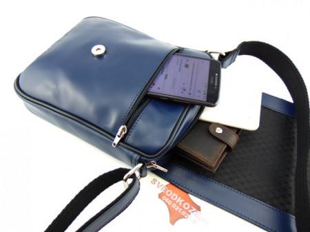 Muška kožna torbica 112 plava