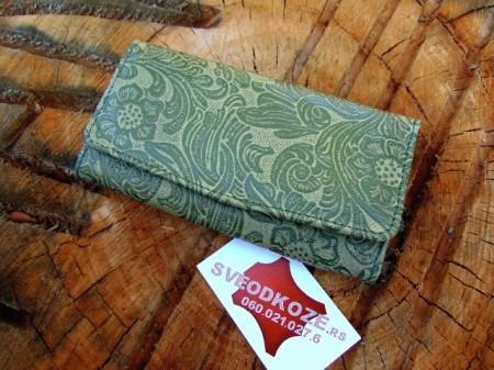 Ženski kožni novčanik 1 zeleni rustik
