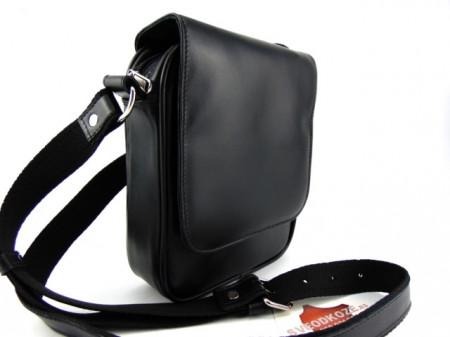 Kožna torba Leather crna