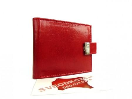 Kožni novčanik za kartice 12 mesta crveni