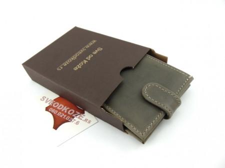 Muški kožni novčanik m3 sivi