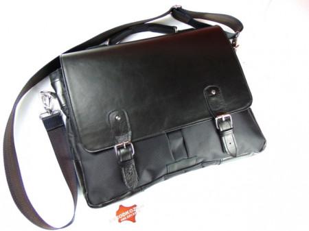 Torba za laptop koža šoteks crna