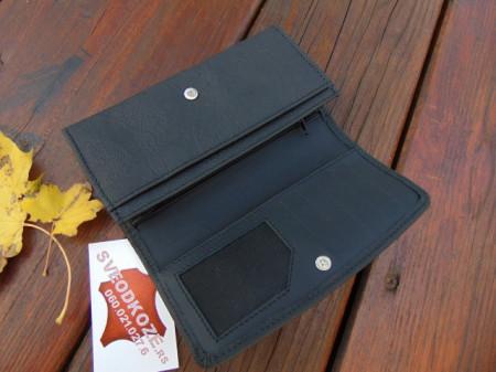 Ženski kožni novčanik 1 crni čipka