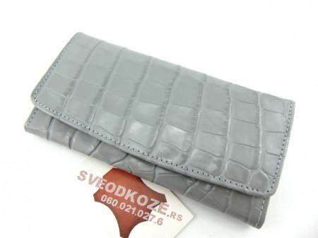 Ženski kožni novčanik 1 sivi