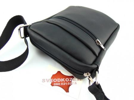Kožna torbica sveodkože crna mat