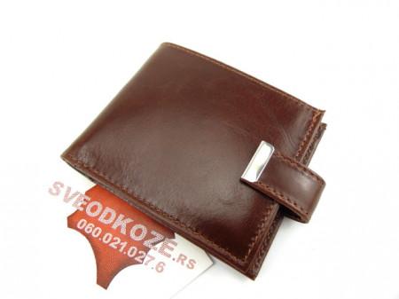 Kožni novčanik za kartice sa 12 mesta klasik braon