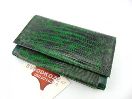 Kožni ženski novčanik Ekskluziv zeleni