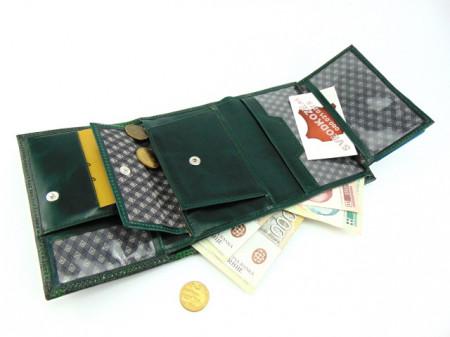 Ženski kožni novčanik Moderna zeleni