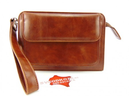 Kožna torba Elegant klasik braon