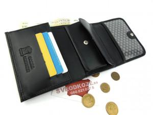 Crni ženski kožni novčanik Mini Mo