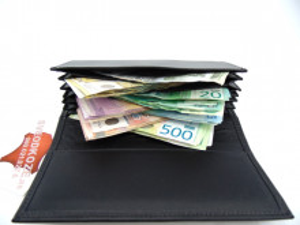 Kožni konobarski novčanik crni mat