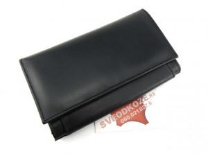 Kožni ženski novčanik Ekskluziv crni
