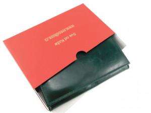 Kožni ženski novčanik Pariz tamno zeleni
