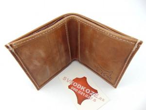 Mali muški kožni novčanik za kartice i papirni novac braon old
