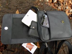 Muška kožna torbica 112 tamno siva