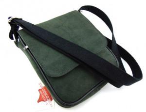 Muška kožna torbica 112 zelena velur