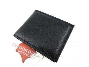 Muški kožni novčanik 5 crni reljef bez kopče