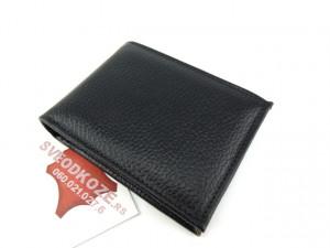 Muški kožni novčanik m3 crni reljef bez kopče