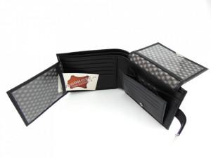 Najveći kožni novčanik XXXL crni