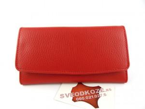 Ženski kožni novčanik 1 crveni reljef
