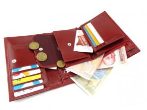 Ženski kožni novčanik Elegant KARMIN