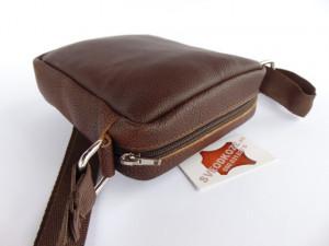 Kožna torbica sveodkože BRAON CRNA