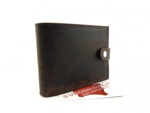 Kožni novčanik 6 tamno braon brušeni