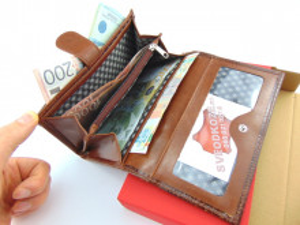 Kožni ženski novčanik Ekskluziv braon