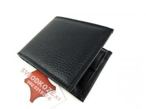 Muški kožni novčanik m2 crni reljef