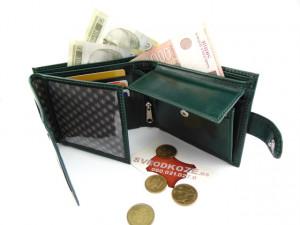 Veliki kožni novčanik KING tamno zeleni