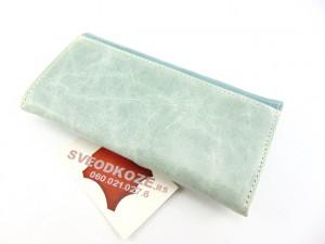Ženski kožni novčanik 1 plavi kamen svetli