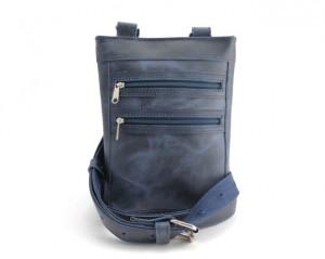 Kožna torbica 9 plava brušena