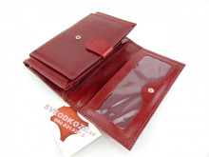 Kožni ženski novčanik Ekskluziv crveni karmin