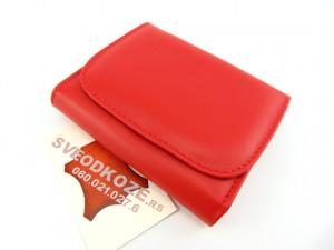 Mali ženski kožni novčanik crveni klasik