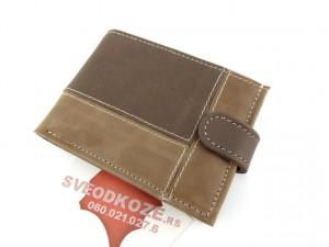 Muški kožni novčanik m3 karo bež