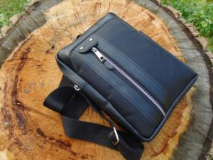 Sportska torbica 2 koža platno crna