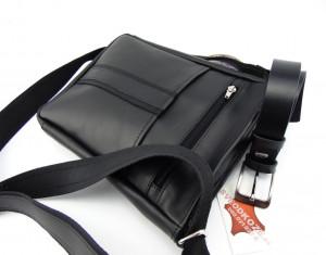 Velika crna kožna torba i crni klasičan kaiš