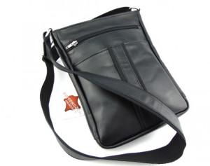 Velika crna kožna torba preko ramena
