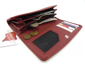 Ženski kožni novčanik 7 crvena cigla