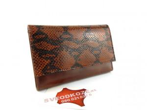 Ženski kožni novčanik Elegant braon crna zmija