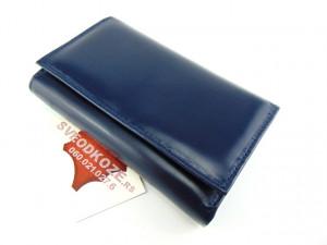 Ženski kožni novčanik Elegant tamno plavi