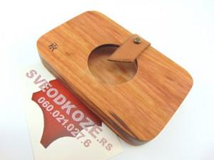 Drveni novčanik futrola šljiva Ranka krug