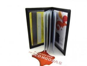 Kožna futrola za kartice sa 6 mesta crna