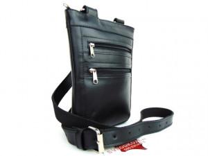 Kožna torbica 9 crna