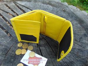 Mali ženski kožni novčanik žuti