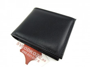 Muški kožni novčanik m4 crni reljef