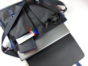 Torba za laptop koža šoteks plava
