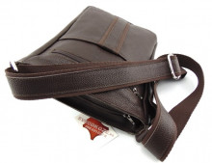 Velika tamno braon kožna torba preko ramena